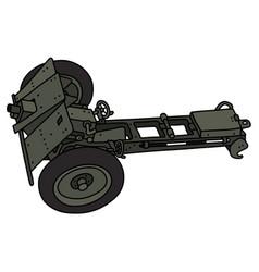 Vintage khaki cannon vector