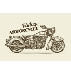 Vintage motorcycle Hand drawn sketch retro vector image