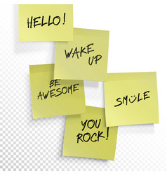 Wake up be awesome hello smile you rock - set of vector