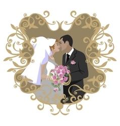 Wedding couple 08 vector image