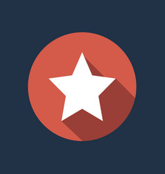 white star on red circle isolated clean fl vector image