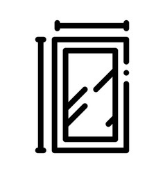 Window dimensions icon outline vector