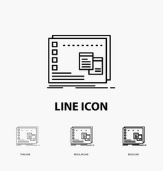 Window mac operational os program icon in thin vector
