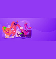 Workflow web banner concept vector
