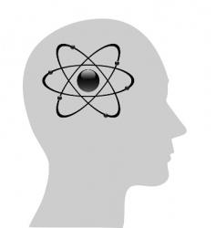 atomic symbol in human head vector image