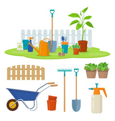gardening equipment and tools vector image
