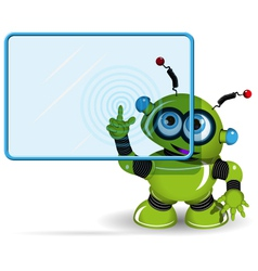 Green Robot and Screen vector image vector image
