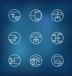 Information fransfer concept icons collection vector image vector image