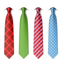 Plaid checkered silk ties vector image vector image