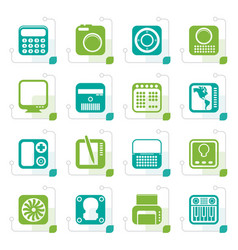 stylized hi-tech and technology equipment vector image