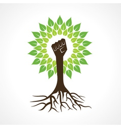 Unity hand make tree vector