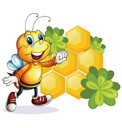 A smiling bee vector image vector image