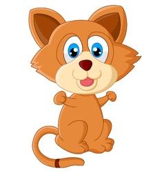 Baby cat cartoon vector image vector image