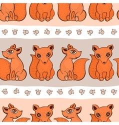 cute fox pattern vector image vector image