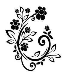 flourishes black vector image vector image