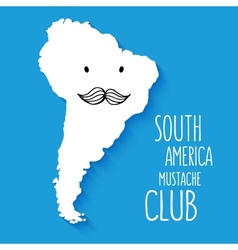 Fun mustache club cartoon South America hand drawn vector image vector image