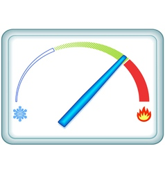 Indicator Thermometer vector image vector image
