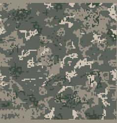 Seamless khaki camouflage of pixel pattern vector