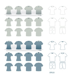 T-shirts fashion set vector