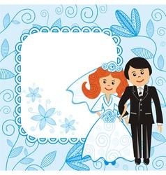 Wedding floral pattern background vector image vector image