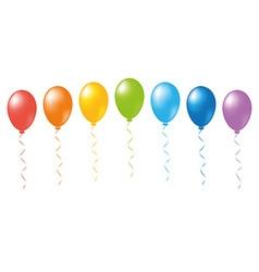 Balloons rainbow vector image