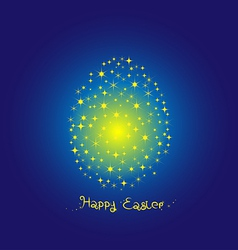 Fancy Egg Easter on blue background vector image vector image