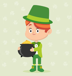 Leprechaun Character Pose vector image