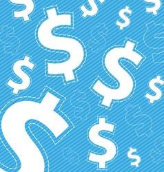 money icon on blue background vector image