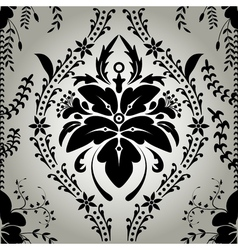 Seamless wallpaper background floral vintage vector image vector image