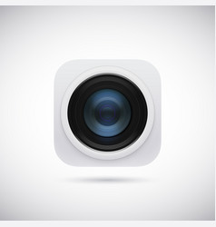 3d lens photo camera app icon isolated on soft vector