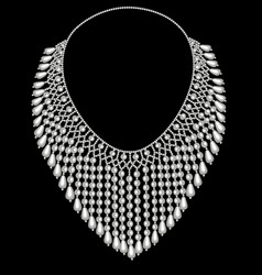 A female necklace made beads and pearls vector
