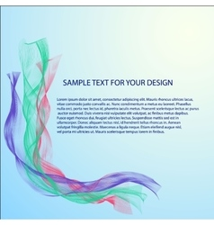 Abstract background with color waves vector