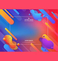 Abstract colorful fluid stripe line pattern vector