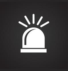 Alarm flasher on black background vector