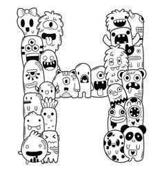 Alphabet h vector