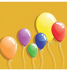 Balloon background birthday card vector