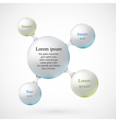 Balls for text vector image
