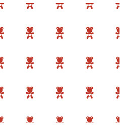 Bear teddy icon pattern seamless white background vector
