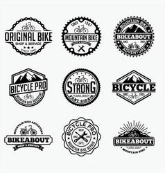 Bicycle logo vector