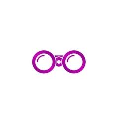 Binocular icon Flat design style vector image