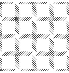 Black and white cage seamless pattern vector