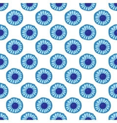 Blue Daisy floral seamless patern background vector