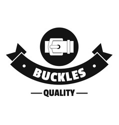 buckle strap logo simple black style vector image