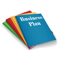 Business startup books vector