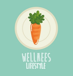 Carrot vegetable healthy food vector