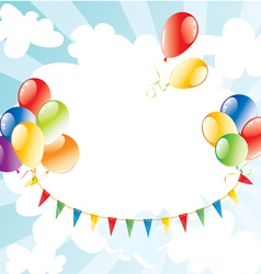 Colorful balloons in sky vector