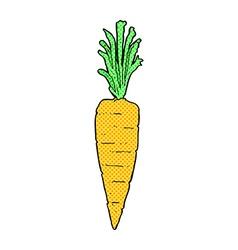 Comic cartoon carrot vector