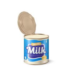 Condensed milk condensed milk can 3d vector