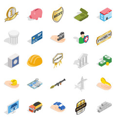 Corporate ethics icons set isometric style vector