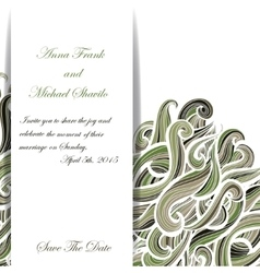 Curly military invitation pattern for your vector image